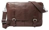 Fossil Men's 'Graham' Leather Messenger Bag - Brown