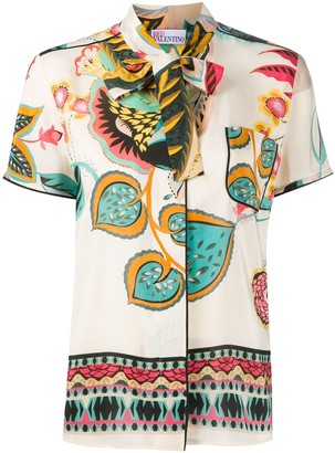 RED Valentino Tropical Floral-Print Shirt