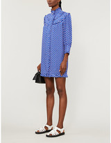 Sandro Dolly graphic-print woven midi dress