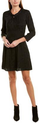 Rebecca Taylor Jacquard Silk A-Line Dress