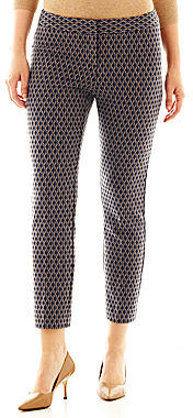 JCPenney Worthington Slim Jacquard Ankle Pants