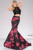 Jovani Two-Piece Print Mermaid Dress 35349