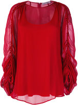 Sportmax sheer gathered sleeves blouse