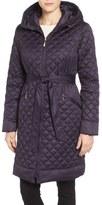 Ellen Tracy Hooded Belted Down Coat