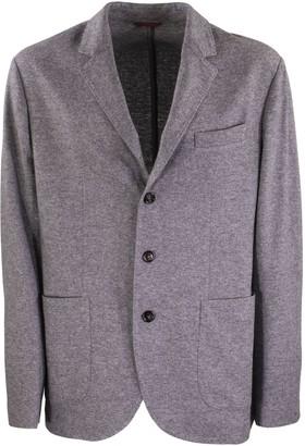 Brunello Cucinelli Single Breasted Blazer Cashmere Jersey Blazer With Patch Pockets