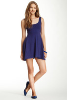 Angie Solid Skater Dress