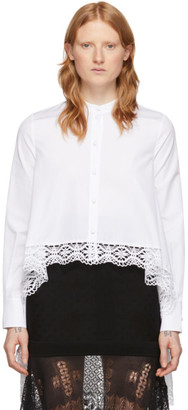 Alexander McQueen White Cotton Lace Shirt
