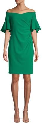 Calvin Klein Off-the-Shoulder Sheath Dress