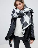French Connection Houndstooth Oversized Scarf