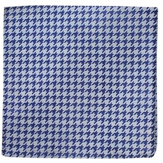 Proenza Schouler The Tie BarThe Tie Bar Soft Blue White Wash Houndstooth Pocket Square