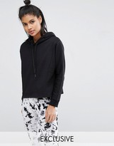 South Beach Black Cropped Black Hoodie