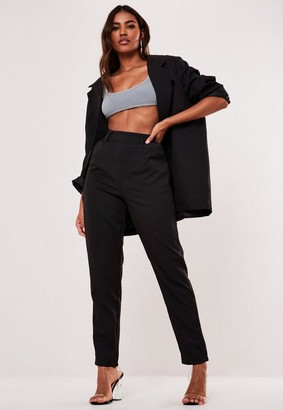 Missguided Black Cigarette Trousers