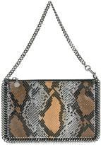Stella McCartney Falabella snakeskin effect clutch - women - Artificial Leather - One Size