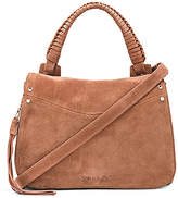 Elizabeth and James Trapeze Small Crossbody in Brown.