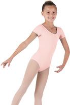 Bloch Light Pink Cap-Sleeve Leotard - Girls