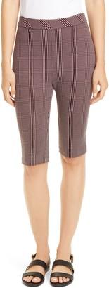 Rosetta Getty Glen Check Jacquard Biker Shorts