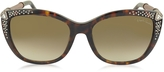 Roberto Cavalli TALITHA 978S Acetate and Crystals Cat Eye Women's Sunglasses