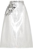 Christopher Kane Metallic Pvc Midi Skirt