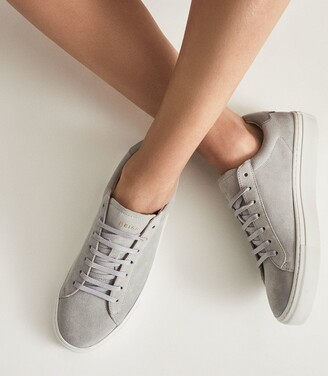 Reiss Finley - Suede Trainers in Grey