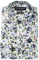 Nick Graham Long Sleeve Modern Fit Floral Dress Shirt