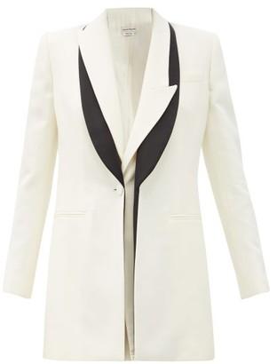 Alexander McQueen Double-lapel Wool-blend Twill Jacket - Ivory Multi