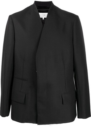 Maison Margiela Collarless Blazer Jacket