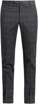 Incotex Slim-leg checked cotton-blend trousers