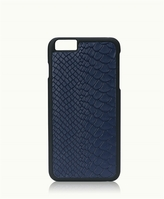 GiGi New York iPhone 6/6s Plus Hard-Shell Case Navy Embossed Python