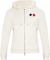 Moncler Logo-appliqué hooded cotton sweatshirt