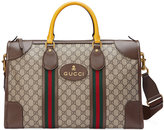 Gucci Soft GG Supreme duffle bag with Web - men - Cotton/Leather/Nylon/Canvas - One Size