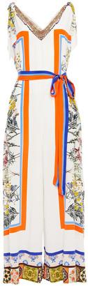 Camilla Crystal-embellished Printed Silk Crepe De Chine Wide-leg Jumpsuit