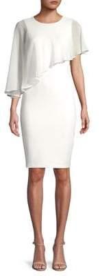 Calvin Klein Asymmetric Overlay Sheath Dress