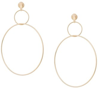 NATASHA SCHWEITZER Double Drop hoop earrings