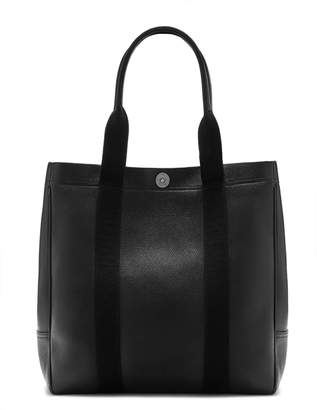 Mulberry City Tote Black Black Small Classic Grain and Webbing