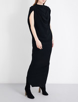 Rick Owens Draped crepe gown