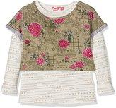 Pampolina Girl's T-Shirt 1/1 Arm Pyjama Bottoms