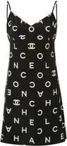 Chanel Pre Owned 1997 branded slip dress