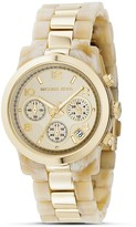 Round Faux Horn and Gold Bracelet Watch, 38MM