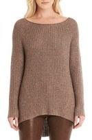 Michael Stars Women's Metallic Knit Shirttail Sweater