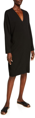 Vince V-Neck Long-Sleeve Popover Dress