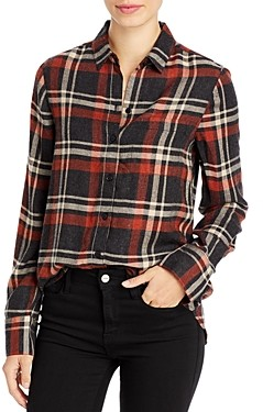 BeachLunchLounge AtLAST Whitney Plaid Button-Down Blouse
