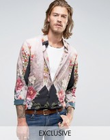 Reclaimed Vintage Party Shirt In Regular Fit
