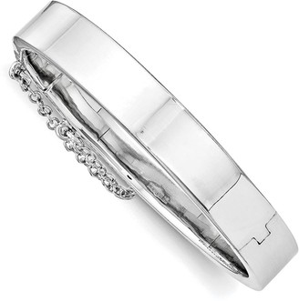 Sterling Silver Children's Rhodium-plated Safety Hinged Bangle by Versil