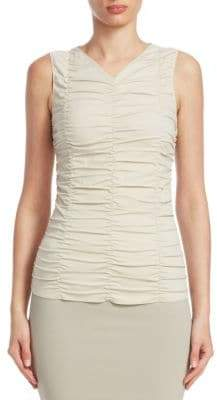 Akris Punto Sleeveless Ruched Top