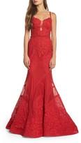 Mac Duggal Women's Embellished Lace Mermaid Gown