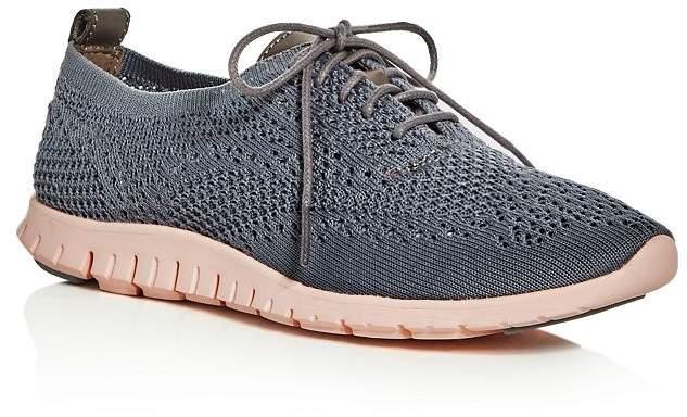 34e3d1e6e0cad Women's ZeroGrand Stitchlite Knit Lace-Up Oxford Sneakers