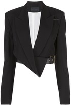 Proenza Schouler Cropped Belted Blazer