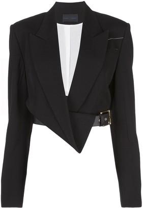 Proenza Schouler Cropped Belted Blazer