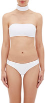 Onia Women's Laura Choker Bandeau Top-WHITE, BLACK