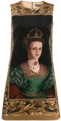 Dolce & Gabbana queen print short dress